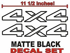 4x4 Truck Bed Decals, MATTE BLACK (Set) for Dodge Ram or Dakota
