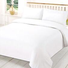 Super King Size Duvet Cover Set Plain White includes Pillowcases Polycotton