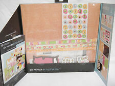 Six Minute Scrapbooker Birthday Embellishment Page Kit Paper Stickers Adhesive