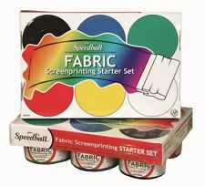 Speedball Screen Printing Ink Textile Fabric Starter Set - 6 x 119ml