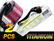 2 of (540 Needles) TMT Black Derma Roller,Titanium 0.25&1.5 mm  Hair Loss ,Scars
