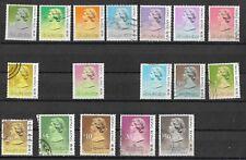Hong Kong - QEII Definitive Short Set, 1987 SG538b / 615 - missing $1.20, 1.40