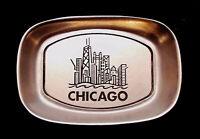 WILTON Armetale® CHICAGO SKYLINE SOUVENIR VINTAGE COIN TRAY DISH ~ EUC