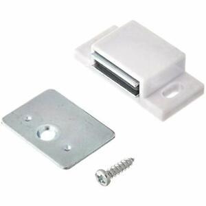 Shutter Hardware 50631-R 15lb Single Magnetic Catch White/zinc Retail Pack (10)