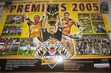 Scott Prince signed West Tigers Premiership Poster 1000mm x 700mm +COA (829)
