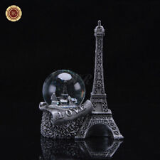 WR Silber Paris Schneekugel Eiffelturm Snowglobe Waterglobe Hochzeitsgeschenke