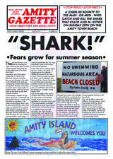 CLASSIC MOVIE ArtPrint JAWS Amity Gazette 420mm x 297mm Limited Edt A3 Print