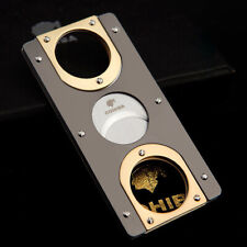 COHIBA Pocket Size Double Blades Stainless Steel Cigar Cutter Scissor Guillotine