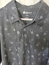 Haggar Clothing Polo Mens Size Xtra Large Gray with 🍍  Tropical Short Sleeve