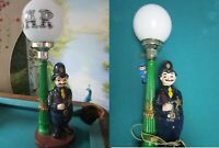 NOVELTY FRENCH BAR TABLE LAMP POLICE OFFICER -CHARLIE CHAPLIN COURTLEY - PICK 1