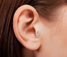 HOT Butterfly Clear Cubic Zirconia Tragus Piercing 16g 1/4inch Stainless Steel