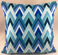 Blues and Greens Geometric Design Evans Lichfield Cushion Cover