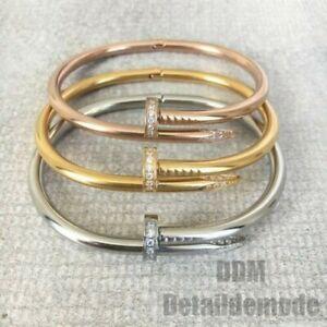 "Bracelet "" Nail Luxury Rhinestone "" Silver,Gold,Gold Pink (Love Bracciale Nail)"