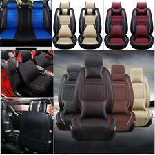 11Pcs Car Seat Cover Protector+Cushion Front & Rear Full Set Pu Leather Interior