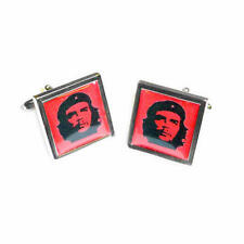With Gift Pouch Square Present New Red & Black Che Guevara Square Cufflinks