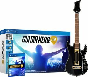 NEW Open Box PS4 Guitar Hero Live Guitar Controller, Strap, Dongle & EUC Game