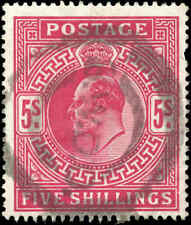 1902-1911 Used Great Britain Scott #140 5 Shillings Stamp