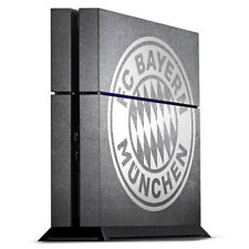Sony Playstation 4 PS4 Folie Aufkleber FC Bayern München Logo weiss Metalllook