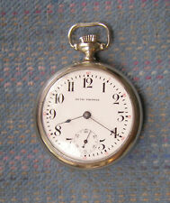 18S Seth Thomas 15J Open Face Nickel Pocket Watch Serviced!