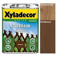Xyladecor Echtbraun 2,5 l Holzschutz Lasur Außen Jägerzaun Gartenzaun Gatter