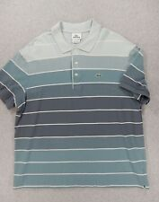 Lacoste Classic Striped Short Sleeve Polo Shirt (Mens Size 7 Medium)
