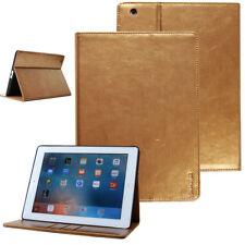 Leder Schutzhülle für Apple iPad 2/3/4 Tablet Tasche Cover Smart Case Stand gold