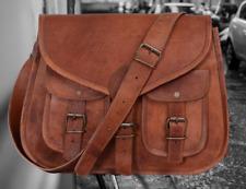 New Women Vintage Brown Leather Messenger CrossBody Bag Handmade Purse Sling Bag