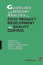 Guidelines for Sensory Analysis in Food Product Development and Quality...