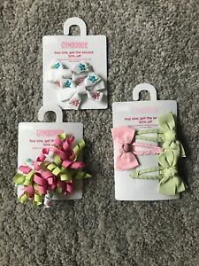 NEW GYMBOREE Hair Accessories Hair Clip Bundle BNWT Back To School Party Girls