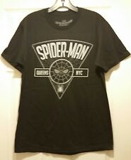 New Marvel Spider-Man Homecoming Queens NY Adult Medium Black Cotton T-shirt