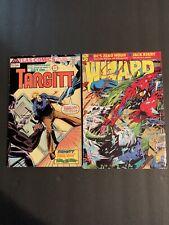"Vintage 1974 Atlas Comics TARGITT & 1994 DC Comics ""WIZARD"" #36 AUG JACK KIRBY"