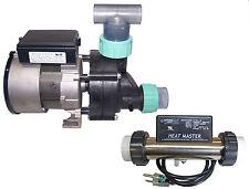 Whirlpool Bathtub Jet Pump & Heat Master Heater System Combo with Unions & Tee