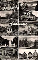 BAD SALZUFLEN 10-fach Mehrbild-AK 1957 Häuser Gebäude Postkarte gelaufen