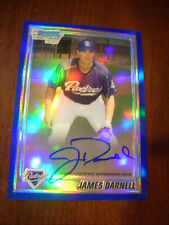 JAMES DARNELL 2010 Bowman Chrome BLUE Refractor AUTO #91/150 Autograph Ref RC
