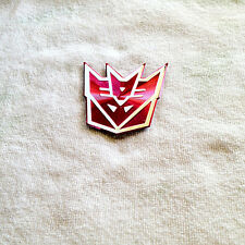 3D Transformers Decepticon Chrome Badge / Sticker For Car Bike - Pink