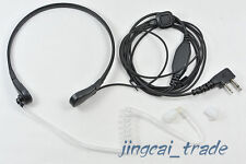 Throat Vibration Mic Acoustic Tube Earpiece Two-Pin for ICOM COBRA Radio