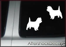 Cairn Terrier Dog Sticker Decal Pair