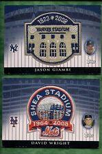 2008 Topps David Wright Shea Stadium Patch Card #045/100
