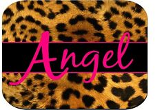 PERSONALIZED MOUSE PAD LEOPARD PRINT HOT PINK