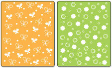 Sizzix Textured Impressions A2 Embossing Folders 2/Pkg-Butterflies & Flowers