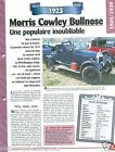 Morris Cowley Bullrose 4 Cyl. 1923 England UK Car Auto Retro FICHE FRANCE