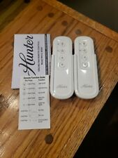(2) 99392 Hunter Indoor/Outdoor Universal Ceiling Fan Remote *REMOTE ONLY*