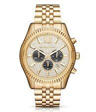 Michael Kors Lexington Gold Steel Chronograph Mens Watch MK8494