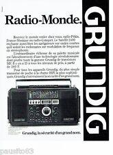 PUBLICITE ADVERTISING 126  1979   Grundig  transistor sattelit  2400 Radio-Monde