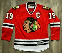 NHL Chicago Blackhawks Jonathan Toews #19 Jersey Mens Reebok Size Small Red