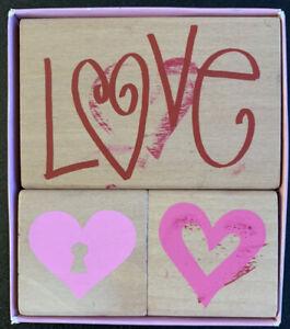 Hobby Lobby Love Heart Rubber Stamp Set