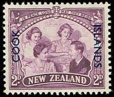 Scott # 128 - 1946 -  ' Royal Family ' - Ovpt. COOK ISLANDS