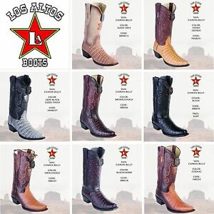 Western, Los Altos Boots, Caiman Belly Exotic Skin, Snip Toe, check Available