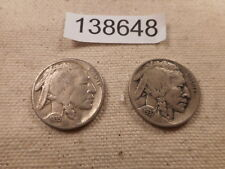 1937 D + 1935 S Buffalo Nickels - Very Nice Collector Grade Coins - # 138648