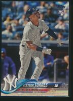 2018 Topps Complete Set #699 Gleyber Torres Rookie Card RC New York Yankees